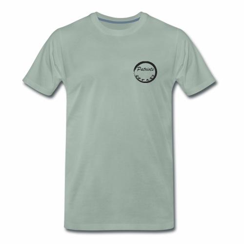 LOGO patriots negro circulo - Camiseta premium hombre