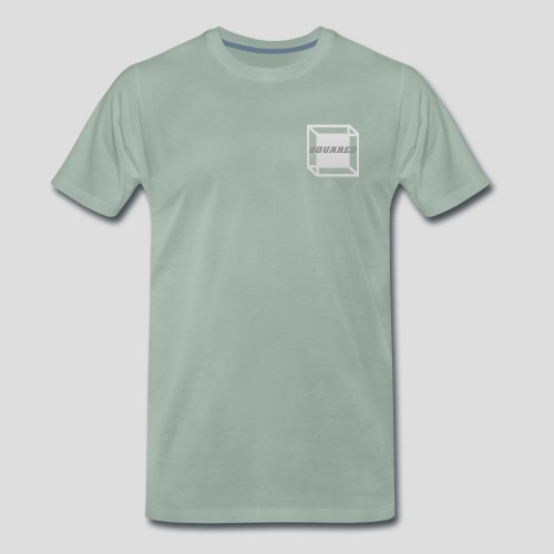 Squared Apparel Logo White / Gray - Men's Premium T-Shirt