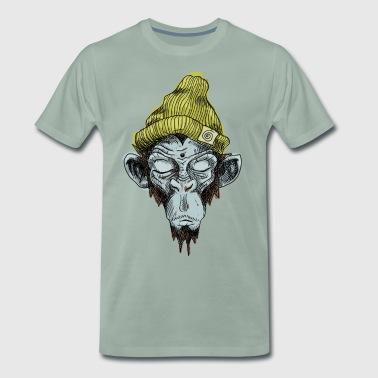 Singe avec le chapeau - T-shirt Premium Homme