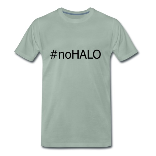 #noHALO black - Men's Premium T-Shirt