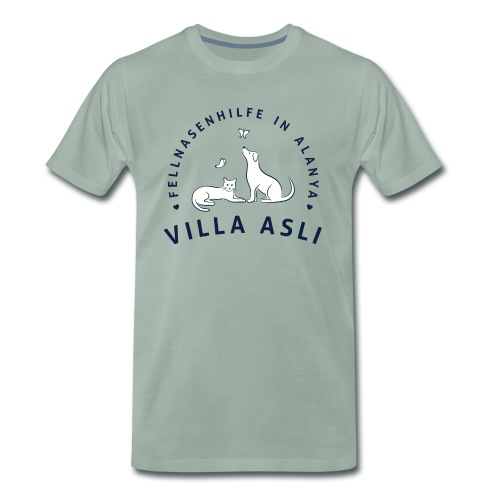 Logo Fellnasenhilfe Villa Asli (Blau) - Männer Premium T-Shirt