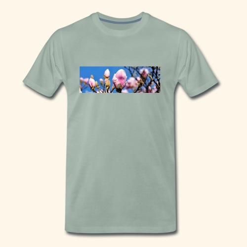 1040659 magnolia hintergrund - Männer Premium T-Shirt