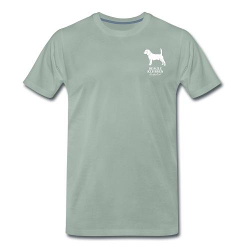 Hvidt logo - Herre premium T-shirt