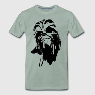 Chewbacca fur potwór gwiazda włosy chłopak - Koszulka męska Premium