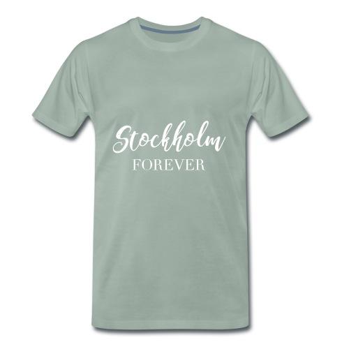 stockholm print white 01 - Premium-T-shirt herr