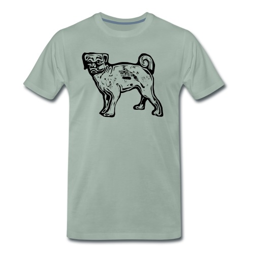 Pug Dog - Men's Premium T-Shirt