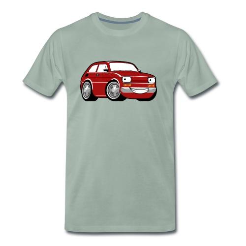 Red cartoon racing car toddler classic - Koszulka męska Premium