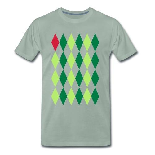 Losange Rouge - Mannen Premium T-shirt