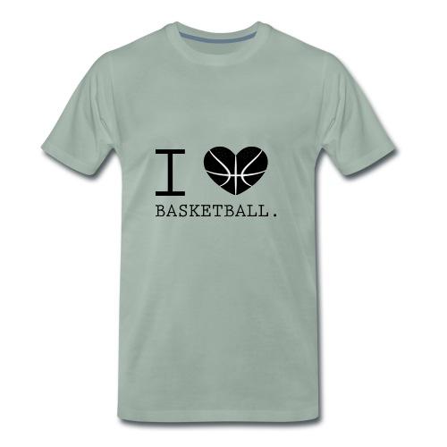 I love Basketball-Shirt T-Shirt Geschenk - Männer Premium T-Shirt