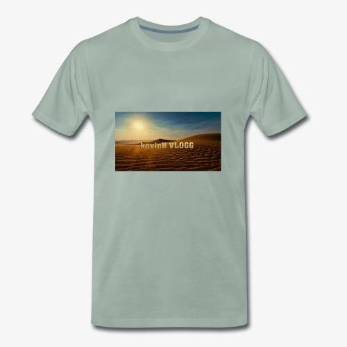 vlogg logo 123 - Premium T-skjorte for menn