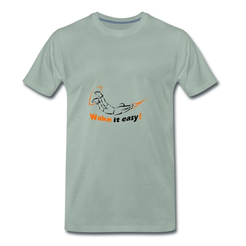 Wake it easy schwarz orange - Männer Premium T-Shirt