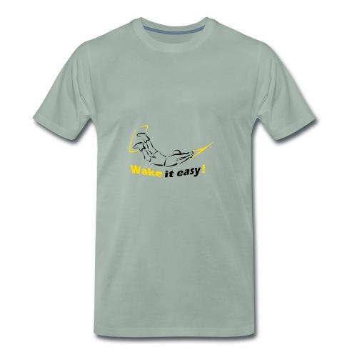 Wake it easy schwarz gelb - Männer Premium T-Shirt