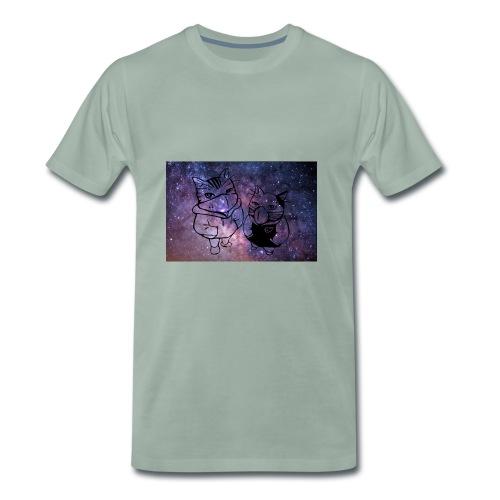 Katzen Galaxie - Männer Premium T-Shirt
