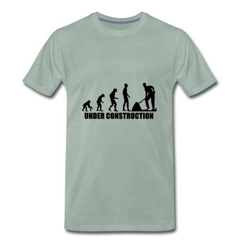 Evolution Baustelle von Affen zum Bauarbeiter - Männer Premium T-Shirt
