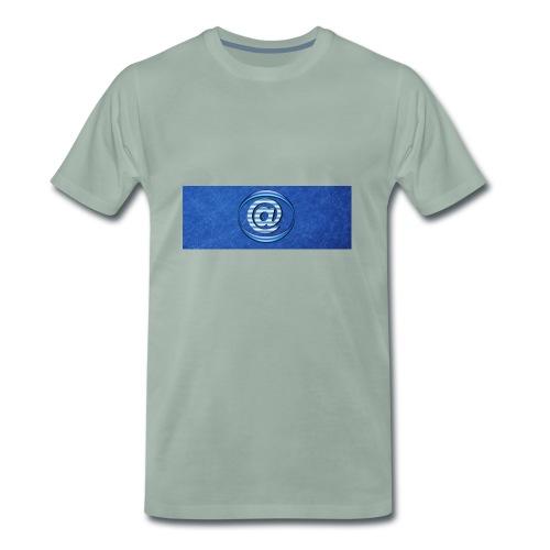 At Sign Dark Blue - Mannen Premium T-shirt