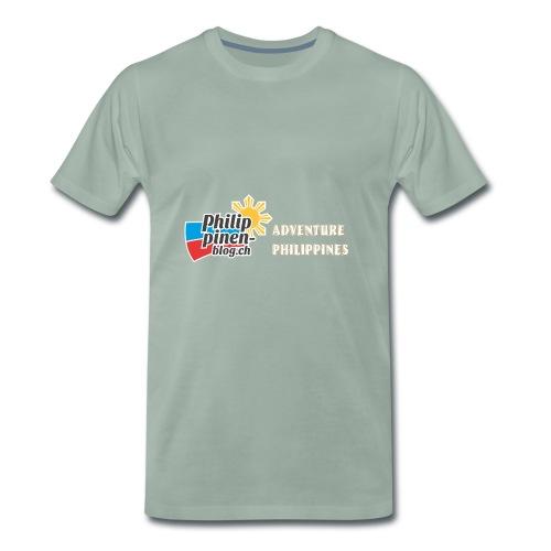 Philippinen-Blog Logo english orange/weiss - Männer Premium T-Shirt