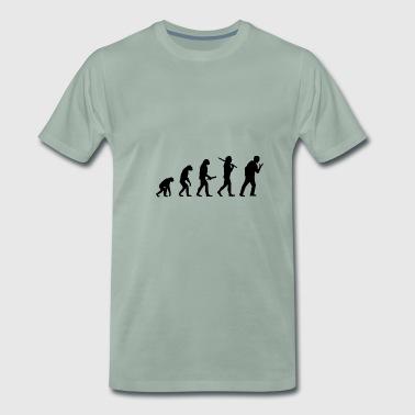 Screaming man Evolution framsteg utveckling - Premium-T-shirt herr