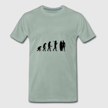 man surfingbräda Evolution framsteg utveckling - Premium-T-shirt herr