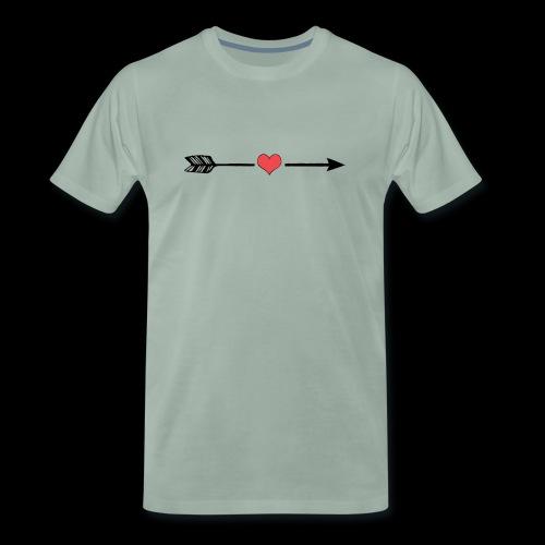 Love Arrow, Pfeil Liebe minimalistic - Männer Premium T-Shirt