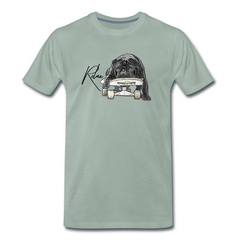 Skateboard pug Relax - Männer Premium T-Shirt