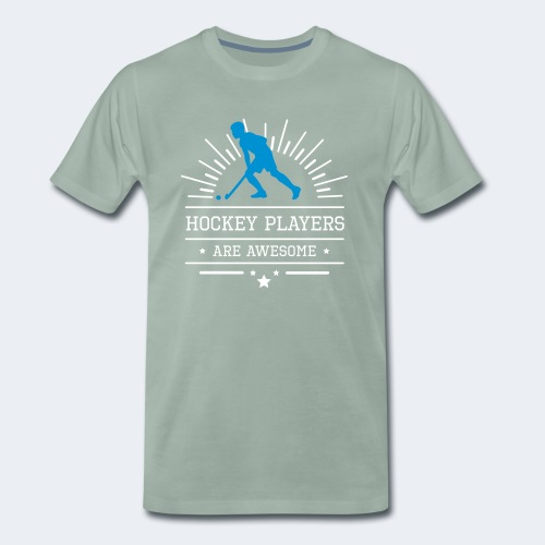 Hockeyplayers are Awesome , blue - Männer Premium T-Shirt