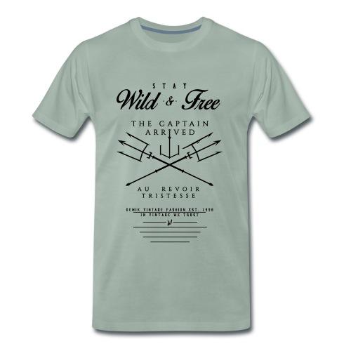 WILD & FREE - Männer Premium T-Shirt