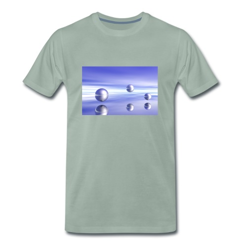Kugel - Landschaft in 3D - Männer Premium T-Shirt