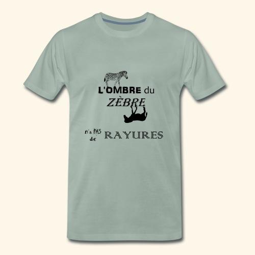 l'ombre du zèbre noir - T-shirt Premium Homme