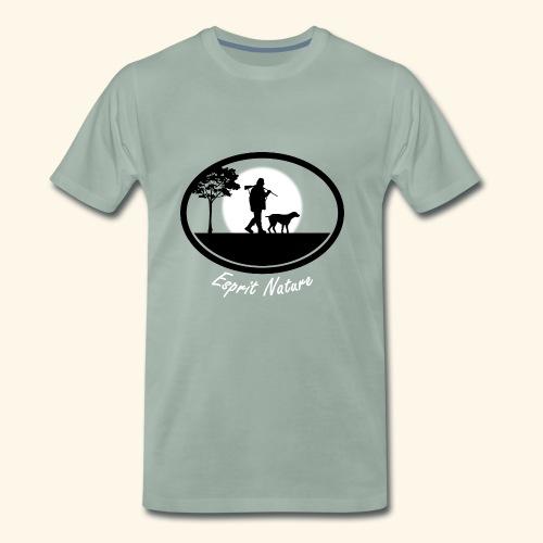 Ecusson chasseur chien - T-shirt Premium Homme
