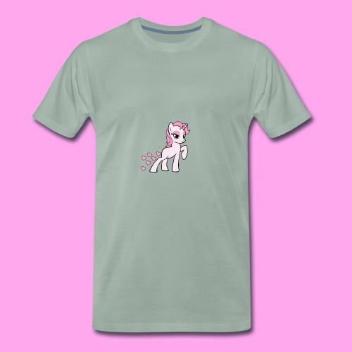 eenhoorn hartjes - Mannen Premium T-shirt