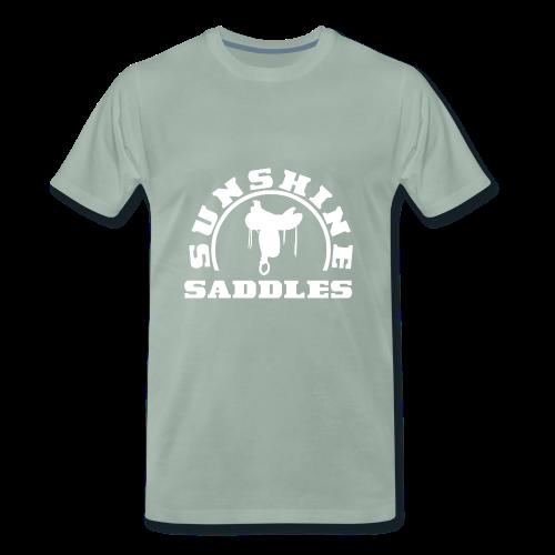 LogoSunshineSaddlesWeissTransparent - Männer Premium T-Shirt