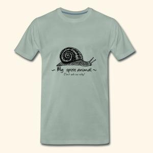 L'escargot est mon animal totem. - T-shirt Premium Homme