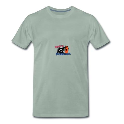 Retro Podcast Logoen - Premium T-skjorte for menn