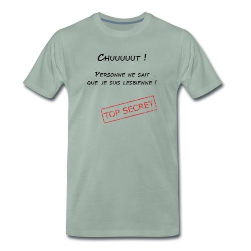 tshirt secret lesbienne - T-shirt Premium Homme