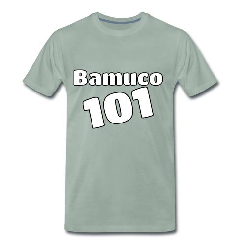 Bamuco101 Big White Logo - Miesten premium t-paita