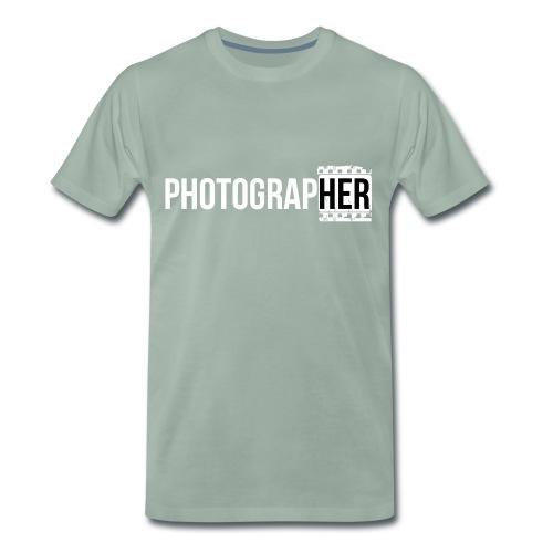 Photographing-her - Men's Premium T-Shirt