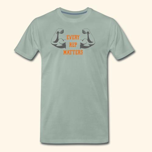 Gym Fitness Shirt for men and women – Every Rep - Männer Premium T-Shirt