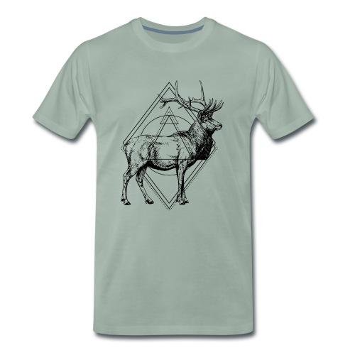 Hirsch Geometrisch Hipster - Männer Premium T-Shirt