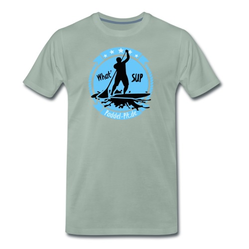 What`SUP. SUP Board Stand Up Paddling Sport - Männer Premium T-Shirt