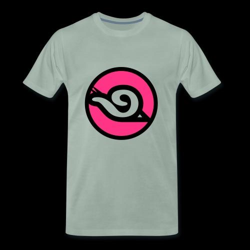 lahme Schnecke als Logo für Sport - Männer Premium T-Shirt