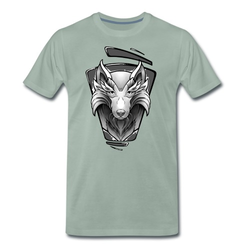 Wolf Tattoo Design - Männer Premium T-Shirt