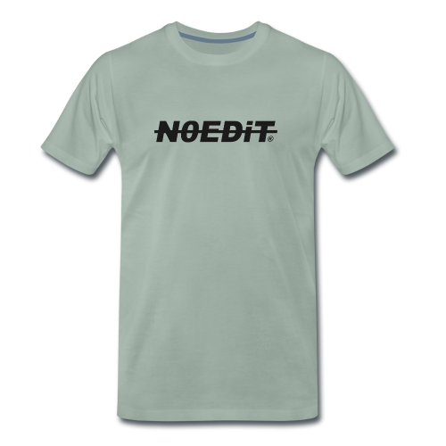 No Edit Black Logo - Men's Premium T-Shirt