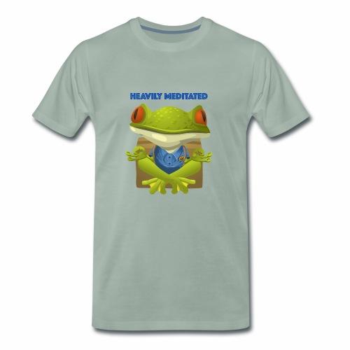 Heavily meditated - frog - Männer Premium T-Shirt