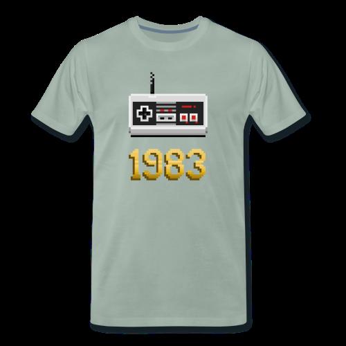 1983 [Pixel Art] - Camiseta premium hombre