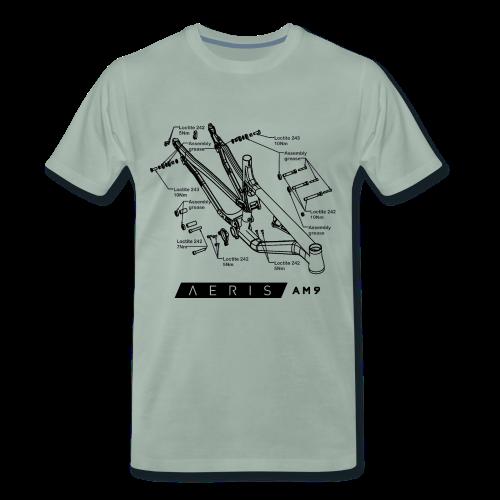 Aeris AM9 Technical Data Tee - Men's Premium T-Shirt