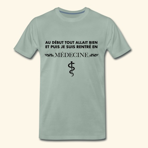 ADTAB X Médecine X Noir X H - T-shirt Premium Homme