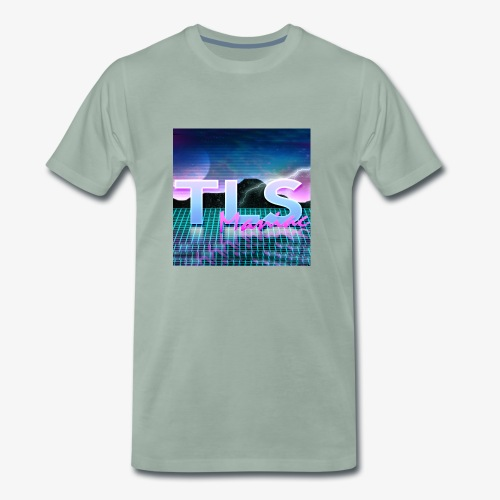 80s Themed TLS Maniac Logo - Men's Premium T-Shirt