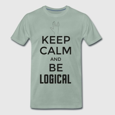 Keep Calm and be logical (dunkel) - Männer Premium T-Shirt