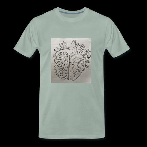 Brain VS Heart - Männer Premium T-Shirt