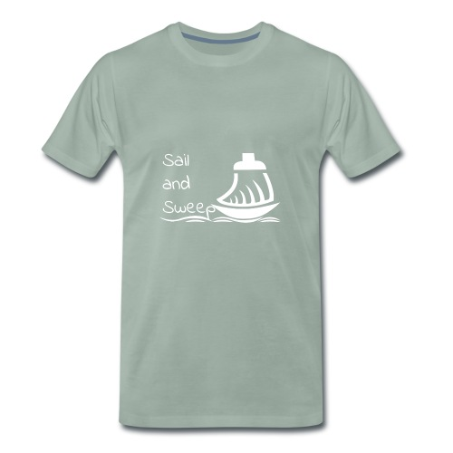 Sail and Sweep White - Men's Premium T-Shirt